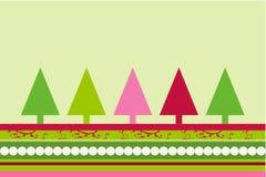 Vecteur d'arbres de Noël Image libre de droits