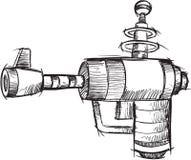 Vecteur d'arme à feu de griffonnage Image libre de droits
