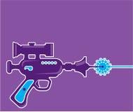 Vecteur d'arme à feu de laser Photo stock