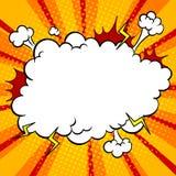 Vecteur d'art de bruit de bande dessinée de nuage d'explosion de bombe Photographie stock libre de droits