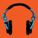 Vecteur d'art de bruit d'écouteurs