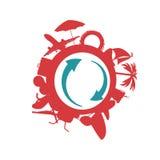 Vecteur d'art de couleur d'icône de plage Image libre de droits