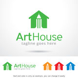 Vecteur d'Art House Logo Template Design Photos libres de droits