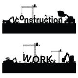 Vecteur d'art noir de travaux de construction Images libres de droits