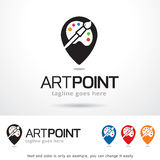 Vecteur d'Art Point Logo Template Design Image libre de droits
