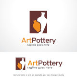 Vecteur d'Art Pottery Logo Template Design, emblème, concept de construction, symbole créatif, icône Photographie stock libre de droits