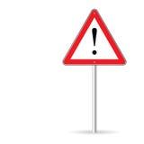 Vecteur d'avertissement d'art de poteau de signalisation Image stock
