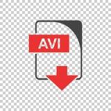 Vecteur d'AVI Icon plat Image libre de droits