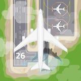 Vecteur d'avion d'atterrissage illustration libre de droits