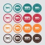 Vecteur d'or de label de satisfaction de 100 % Photographie stock