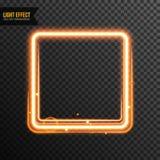 Vecteur d'effet de la lumière de rectangle transparent avec le scintillement d'or illustration de vecteur
