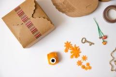 vecteur d'emballage d'illustration de cadeau Photos stock