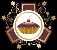 Vecteur d'emblème de gâteau Images stock