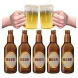 Vecteur d'ensemble de bière illustration libre de droits