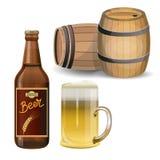 Vecteur d'ensemble de bière illustration stock