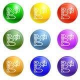 Vecteur d'ensemble d'icônes de classe d'énergie illustration de vecteur
