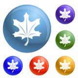 Vecteur d'ensemble d'icônes de feuille d'automne illustration de vecteur