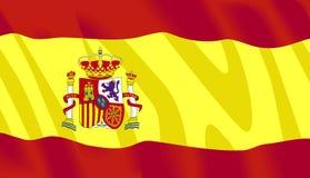Drapeau d'Espagnol de vecteur photographie stock libre de droits