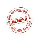 Vecteur d'estampille de membre Images libres de droits