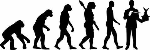 Vecteur d'Evolution de magicien illustration de vecteur