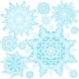 Vecteur d'hiver réglé avec des flocons de neige illustration de vecteur