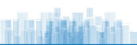 Vecteur d'horizon de gratte-ciel de ville Images stock