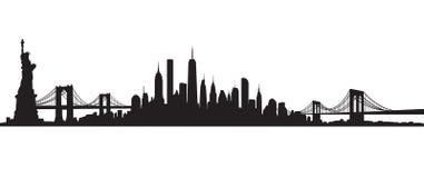 Vecteur d'horizon de New York City illustration libre de droits