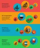 Vecteur d'huile, industrie de petrolium, production illustration libre de droits
