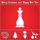 Vecteur d'icône d'échecs illustration stock