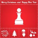 Vecteur d'icône d'échecs illustration de vecteur