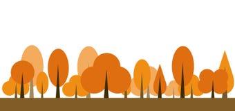 Vecteur d'icône d'arbre d'automne Photo libre de droits
