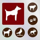 Vecteur d'icône de chien illustration stock