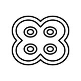 Vecteur d'icône de division cellulaire d'isolement sur le fond blanc, signe de division cellulaire, ligne mince éléments de conce illustration stock