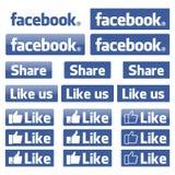 Vecteur d'icône de Facebook illustration stock