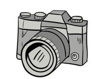 Vecteur d'icône de griffonnage d'appareil-photo avec le fond blanc Photo stock