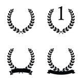 Vecteur d'icône de guirlande de laurier illustration libre de droits
