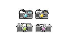 Vecteur d'icône de logo d'appareil-photo de schéma illustration de vecteur