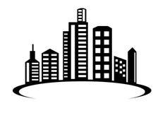 Vecteur d'icône de logo de bâtiment Illustration de constructeurs de ville de métro