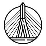 Vecteur d'icône de pont de Zakim illustration de vecteur