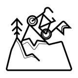 Vecteur d'icône de roi de vélo illustration stock