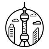 Vecteur d'icône de tour de NC de Toronto illustration libre de droits
