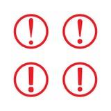 Vecteur d'icône d'exclamation Icône de signe d'attention en cercle illustration de vecteur