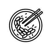 Vecteur d'icône d'omelette d'huître d'isolement sur le fond blanc, signe d'omelette d'huître illustration libre de droits