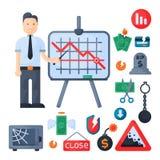 Vecteur d'icône d'investissement de conception de finances d'activité bancaire d'économie de problème de concept de symboles de c illustration de vecteur