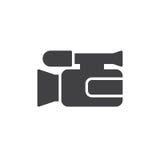 Vecteur d'icône de caméra vidéo Image stock