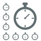 Vecteur d'icône de chronomètre Photos stock