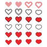 Vecteur d'icône de coeur Photo stock