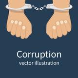 Vecteur d'icône de corruption Photographie stock