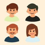 Vecteur d'icône de famille Art image logo signe Photos libres de droits