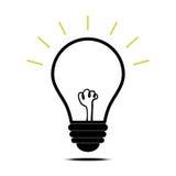 Vecteur d'icône de lampe illustration stock